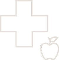 First Aid symbol and apple - Health & Nutrition